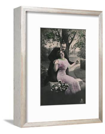 'Romantic postcard', c1910-Unknown-Framed Photographic Print