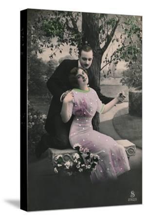 'Romantic postcard', c1910-Unknown-Stretched Canvas Print