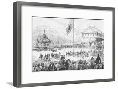 The Imperial Durbar at Delhi, India, on 1 January 1877 (1908)-Unknown-Framed Giclee Print