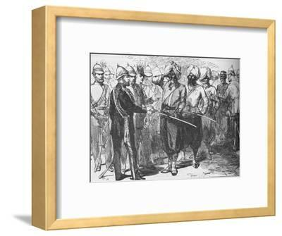 Reception for the survivors of the defence of Lucknow, India, January 1876-Unknown-Framed Giclee Print