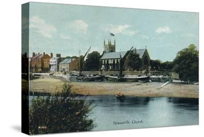 Isleworth Church, London, c1905-Unknown-Stretched Canvas Print