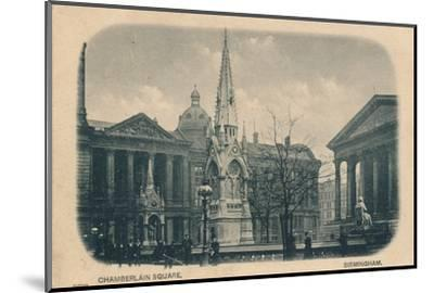 Chamberlain Square, Birmingham, c1905-Unknown-Mounted Photographic Print