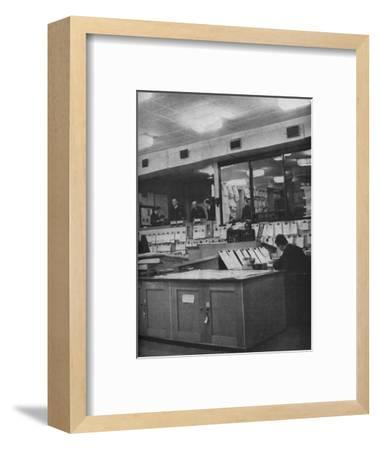 British Naval and Air Force officers working at Area Combined Headquarters, c1940-Unknown-Framed Photographic Print