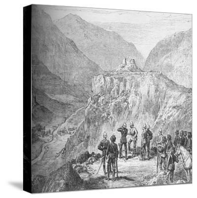 The fort of Ali Masjid in the Khyber Pass, 1908-Unknown-Stretched Canvas Print