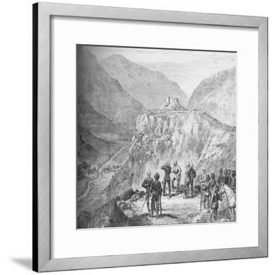 The fort of Ali Masjid in the Khyber Pass, 1908-Unknown-Framed Giclee Print