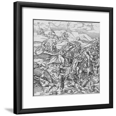 Battle between the Mongols under Timur and the Turks, c1400 (1908)-Unknown-Framed Giclee Print