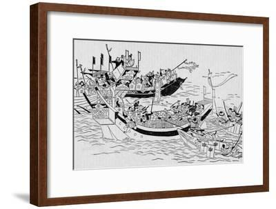 The attempted Mongol invasion of Japan, 1281 (1907)-Unknown-Framed Giclee Print
