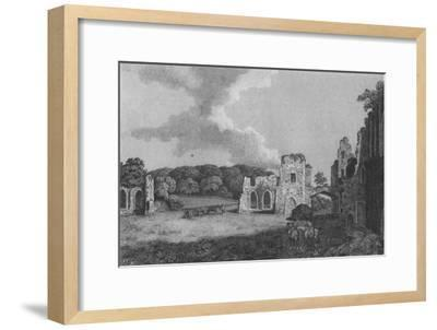 'View of part of  the Ruins of the Abbey of St. Agatha: near Eastby, Yorkshire', 1791-Unknown-Framed Giclee Print