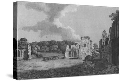 'View of part of  the Ruins of the Abbey of St. Agatha: near Eastby, Yorkshire', 1791-Unknown-Stretched Canvas Print