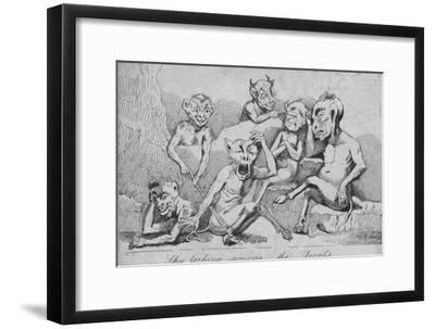 'Sky larking among the Devils', c19th century-Unknown-Framed Giclee Print