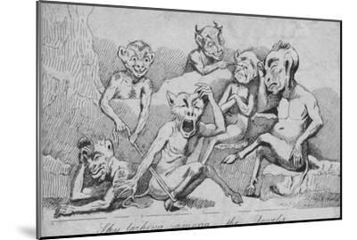 'Sky larking among the Devils', c19th century-Unknown-Mounted Giclee Print