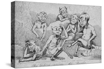 'Sky larking among the Devils', c19th century-Unknown-Stretched Canvas Print