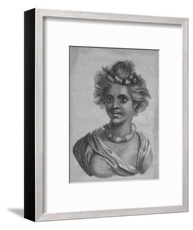 'A Woman of the Sandwich Islands', c18th century-Unknown-Framed Giclee Print