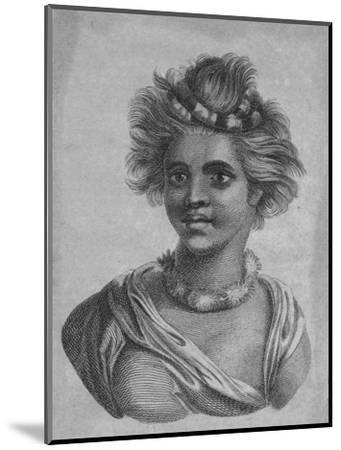 'A Woman of the Sandwich Islands', c18th century-Unknown-Mounted Giclee Print
