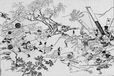 A Japanese artist's picture of Japan's invasion of Korea in 1592 (1907)-Unknown-Framed Giclee Print