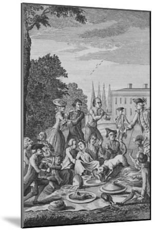 'The Citizens Fete Champetre', c1770-Unknown-Mounted Giclee Print