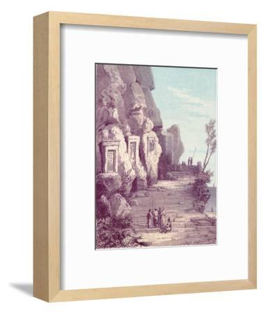 'Assyrian Scuplture at the Nahr El Kelb or Dog River', c19th century-Unknown-Framed Giclee Print