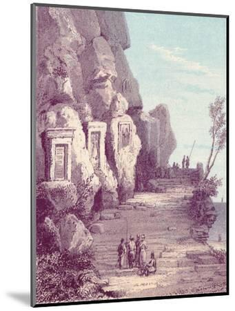 'Assyrian Scuplture at the Nahr El Kelb or Dog River', c19th century-Unknown-Mounted Giclee Print