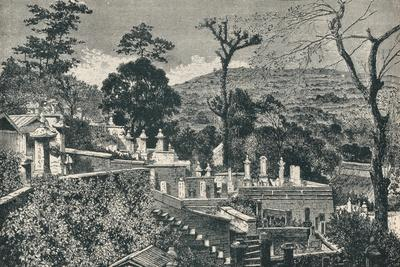 The Cemetery Hill at Nagasaki, Japan, before the modern expansion of the town, 1907-Unknown-Framed Giclee Print