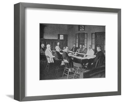 Parliaments of Britain's overseas dominions: the Legislative Council of Fiji in session, 1909-Unknown-Framed Photographic Print