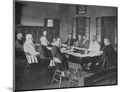 Parliaments of Britain's overseas dominions: the Legislative Council of Fiji in session, 1909-Unknown-Mounted Photographic Print