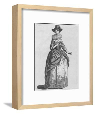 'Habit of the Lady Mayoress of London in 1640', 1776-Unknown-Framed Giclee Print