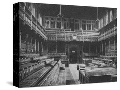 Interior of the House of Commons, Westminster, looking towards the Strangers Gallery, 1909-Unknown-Stretched Canvas Print