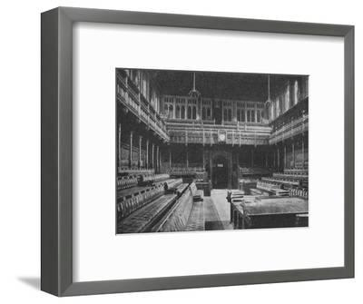 Interior of the House of Commons, Westminster, looking towards the Strangers Gallery, 1909-Unknown-Framed Photographic Print