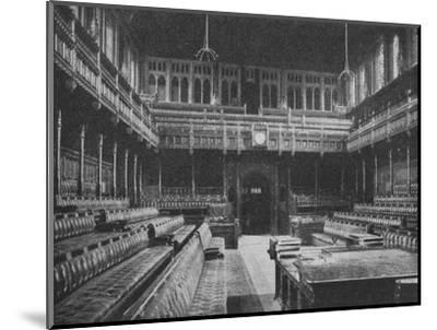 Interior of the House of Commons, Westminster, looking towards the Strangers Gallery, 1909-Unknown-Mounted Photographic Print