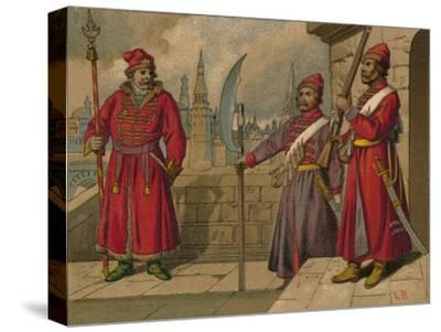 'Russian Strelitzi and Turkish Guards of the 17th Century - Officer, Privates', c19th century-Unknown-Stretched Canvas Print