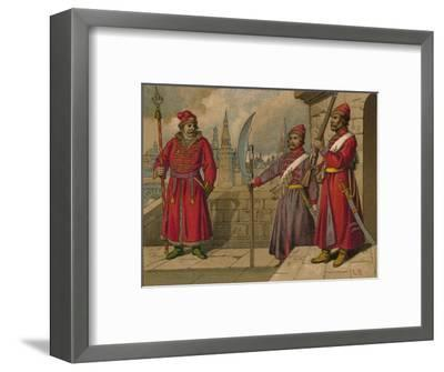 'Russian Strelitzi and Turkish Guards of the 17th Century - Officer, Privates', c19th century-Unknown-Framed Giclee Print