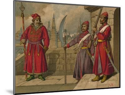 'Russian Strelitzi and Turkish Guards of the 17th Century - Officer, Privates', c19th century-Unknown-Mounted Giclee Print
