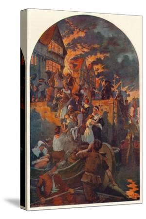 The Great Fire of London, 1666 (1905)-Unknown-Stretched Canvas Print