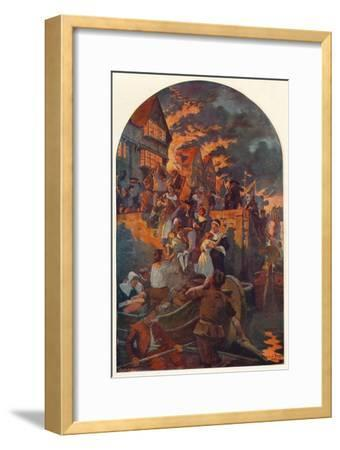 The Great Fire of London, 1666 (1905)-Unknown-Framed Giclee Print