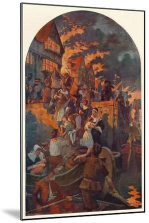 The Great Fire of London, 1666 (1905)-Unknown-Mounted Giclee Print