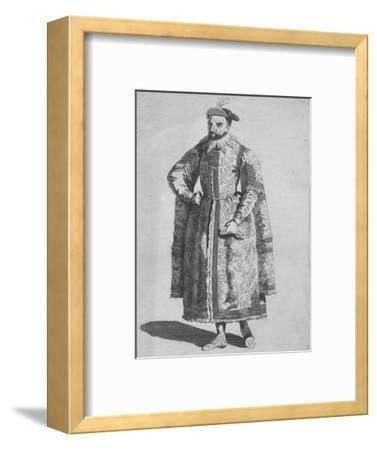 'Habit of a Merchant of London in 1640', 1776-Unknown-Framed Giclee Print