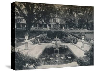 'Lily Basin and West Front; The Hill, Hampstead Heath', c1900-Unknown-Stretched Canvas Print