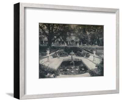 'Lily Basin and West Front; The Hill, Hampstead Heath', c1900-Unknown-Framed Photographic Print