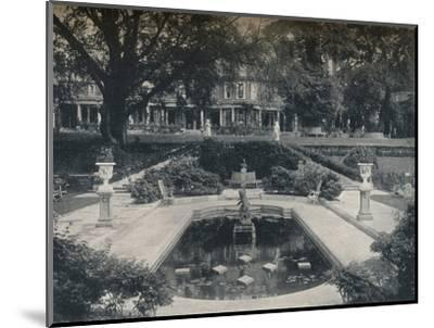 'Lily Basin and West Front; The Hill, Hampstead Heath', c1900-Unknown-Mounted Photographic Print