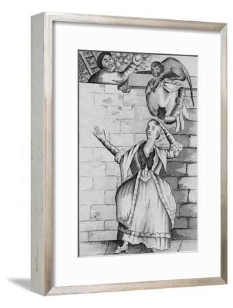 'Slight of hand by a Monkey - or the Ladys head unloaded', c1812-Unknown-Framed Giclee Print