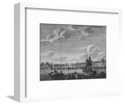 'View of Rouen', 1782-Unknown-Framed Giclee Print