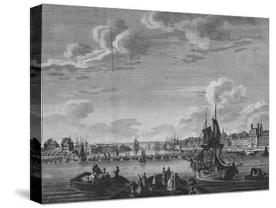 'View of Rouen', 1782-Unknown-Stretched Canvas Print