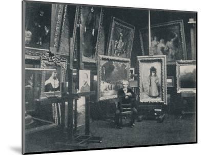 'Carolus Duran in his Studio', c1897-Unknown-Mounted Photographic Print