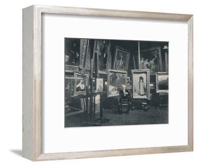 'Carolus Duran in his Studio', c1897-Unknown-Framed Photographic Print