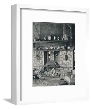 'Fire-place in the library of Mr. Louis C. Tiffany', 1897-Unknown-Framed Photographic Print