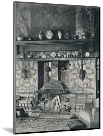 'Fire-place in the library of Mr. Louis C. Tiffany', 1897-Unknown-Mounted Photographic Print