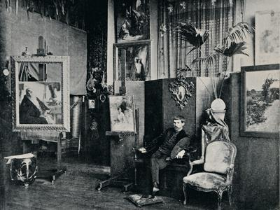 'Dagnan in his Studio', c1897-Unknown-Framed Photographic Print