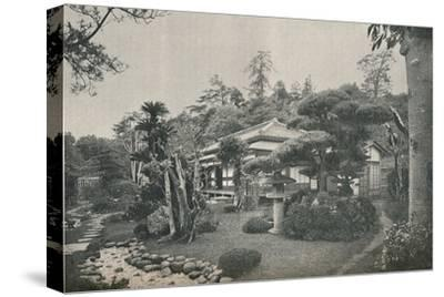 'A Private Garden at Yokohama', c1892-Unknown-Stretched Canvas Print