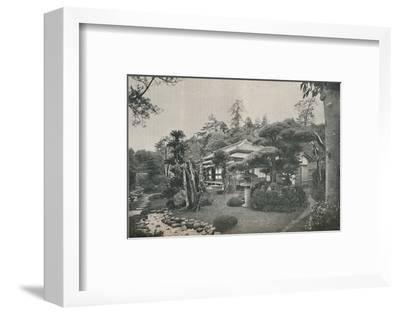'A Private Garden at Yokohama', c1892-Unknown-Framed Photographic Print