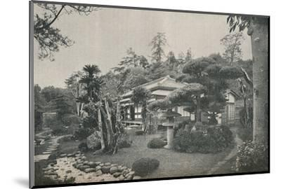 'A Private Garden at Yokohama', c1892-Unknown-Mounted Photographic Print